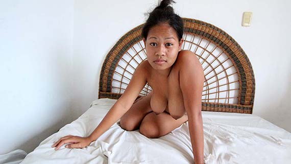Shy big boobs Asian girl fucking her new white friend
