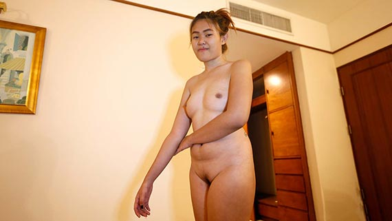 Very shy chubby Thai babe enjoys white tourist's company