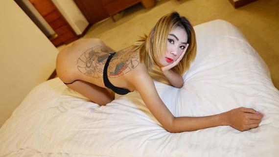 Skinny Thai bargirl destroyed on camera by white traveller