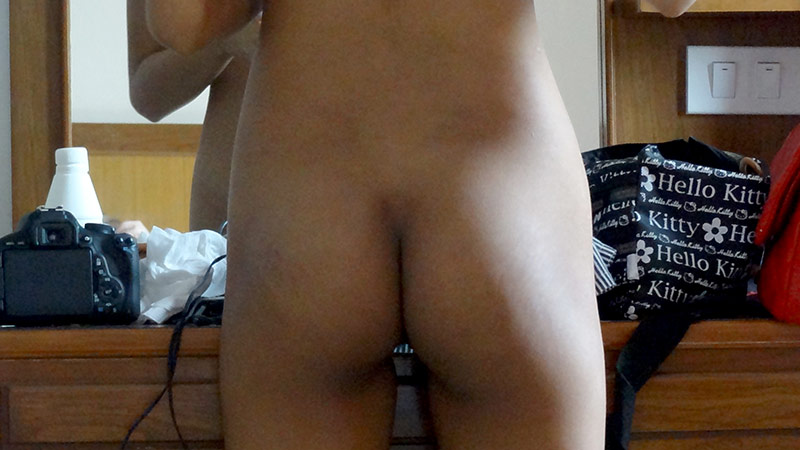 Sexy Thai overnighter doing makeup and getting creampied in the morning