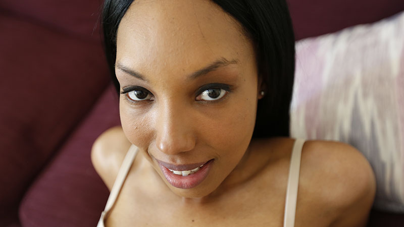 Horny black babe having interracial sex on first date