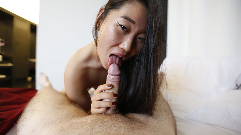 Hot Asian fuck doll with small tits fucking in hotel room