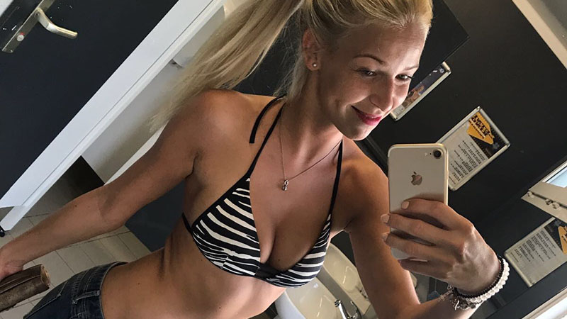 Sexy blonde from Slovenia shares her personal selfies